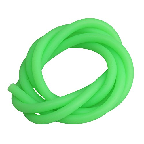 BQLZR 1PCS Green Silicone 5x3mm Glow Fuel Line Tube Pipe for RC1:10 Gasoline Remote Control Car
