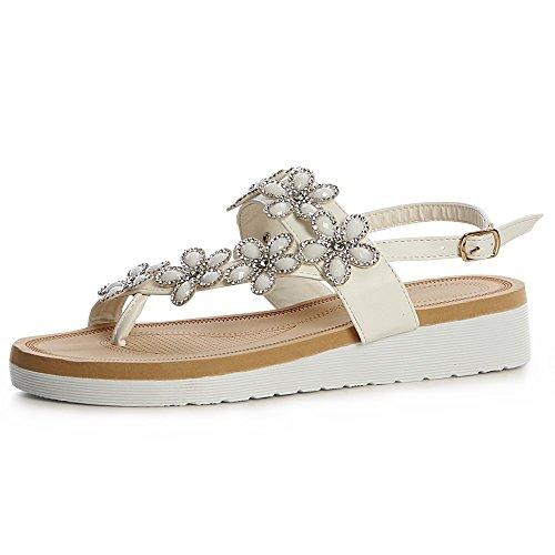 Sandalettes topschuhe24 Femmes topschuhe24 Sandales Blanc Femmes EIwInrRZqx