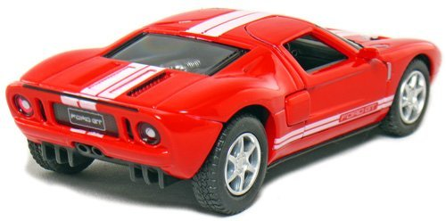 Amazon Com Set Of  Ford Gt Sport Car  Scale Black Red White Yellow By Kinsmart Toys Games