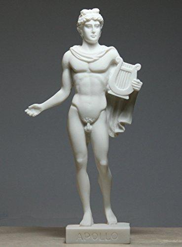 Greek Roman God of Sun & Music APOLLO Alabaster Statue Nude Sculpture (White Alabaster Statue)