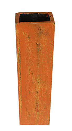 Amazon Extra Large Floor Wood Vase 30 Orange Distressed