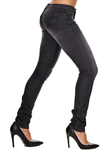 Delle Jeans Hosen Donne D1708 Pantaloni Arizonashopping Nero qEw0SnP