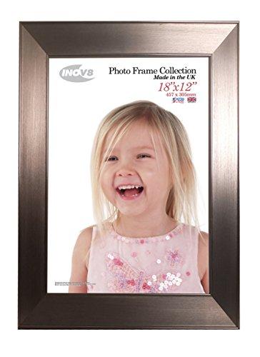 Inov8 Photo Frame, Twin Edge Chrome, 18 X 12-Inch, Pack Of ()