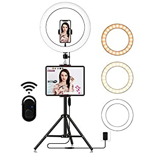 Best Epic Trends 4102T7TAqML._SS300_ Big Selfie Ring Light with Stand: 14 Inch LED Ringlight | Circle Lamp with Phone Holder & Camera Tripod for Photography…