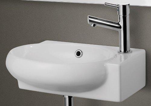 Marca Alfi ab107blanco pequeño montado en la pared lavabo de baño de cerámica