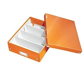 Leitz Wow Click /& Store 60570064 Petite Bo/îte de Rangement Syst/ème de Compartiment A5 Vert