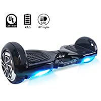 "BEBK & MoovWay 6.5"" Hoverboard - Self Balancing 2 Wheel Scooter with LG Battery, Portable Carry Handle with LED Light"