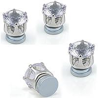 Sumanee Mens Clip On Magnetic Earrings Crystal No Piercing Women Earring Stud Jewelry