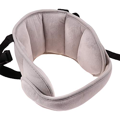 Lovyno Adjustable Child Car Seat Head Support Band,Travel Car Seat Stroller Child Head Protection Neck Relief for Toddler Baby Kids (Deep Grey)