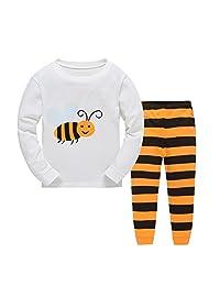 Girls Pajamas Sets Bee Kids Pjs Cotton Long Sleeve Sleepwears 2-7 years