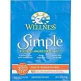Wellness Simple Limited Ingredient Diet Duck and Oatmeal Dry Dog Food, 26 lbs., My Pet Supplies