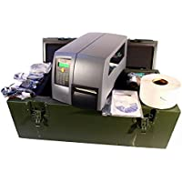 Intermec PM4i PM4G411000300220 Printer EasyLan Network USB with Rugged Military Army Transit Stationary Case