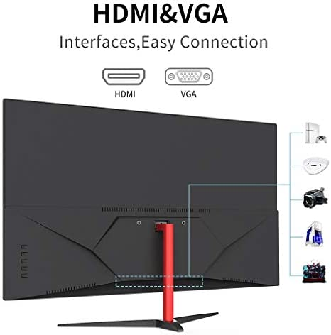 144Hz Monitor, Prechen 23.8 Inch PC Monitor Full HD 1920 x 1080 IPS Panel with HDMI and VGA Interfacen, 250 cd / m2, Built-in Speakers Gaming Monitor for PS3 / PS4 / Xbox/PC 4102Te3u73L