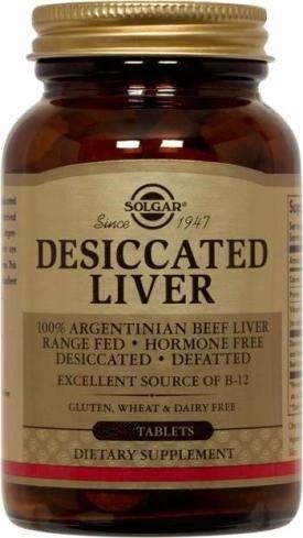 Solgar Desiccated Liver 250 Tablets product image