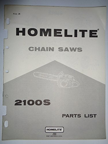 Homelite 2100S Chain Saw Chainsaw Parts Catalog Manual 1/84