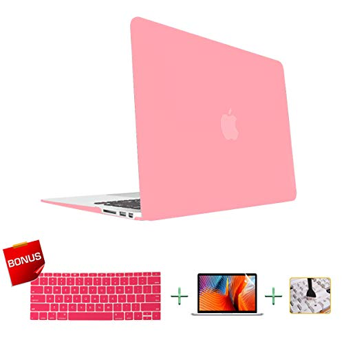 Laptop Case MacBook Case Hard Shell Case for MacBook Pro 13-inch Model A1278 with Keyboard Skin Cover and Screen Protector (Pink)