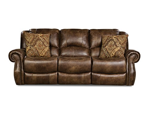Cambridge 98529DRS-CO Stratton Double Reclining Sofa, Brown For Sale