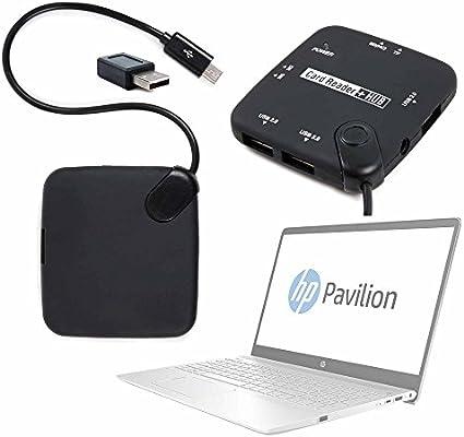 DURAGADGET Adaptador USB (Macho) A Micro USB (Hembra) para Portátil HP 15-bw068ns, HP Pavilion 15-ck007ns