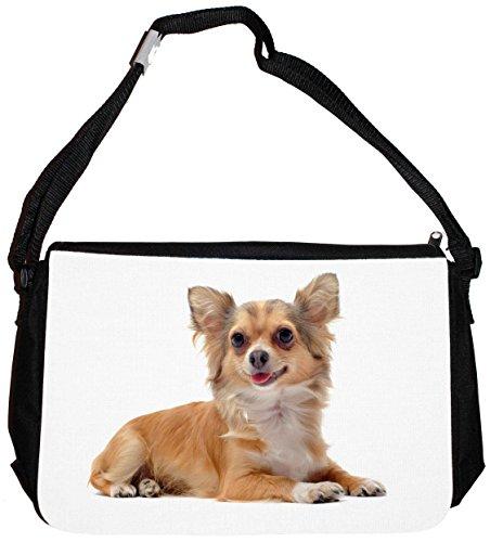 Schultertasche Messenger Bag Tragetasche Umhängetasche - Motiv: Chihuahua - 03