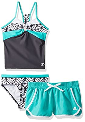 ZeroXposur Big Girls' Two Piece Tankini Swimsuit Set
