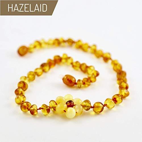 Hazelaid (TM) 11'' Twist-Clasp Baltic Amber Flower Necklace by HAZELAID