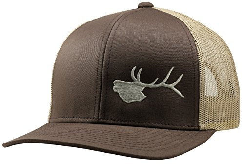 Lindo Trucker Hat - Bugling Elk - by - Elk Brown