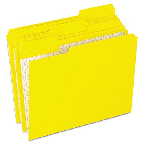 Pendaflexamp;reg; Two-ply, Reinforced File Folders, 1/3 Cut, Top Tab, Letter, Yellow, 100/box