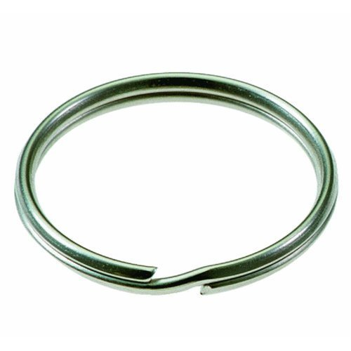 Lucky Line Products 2 Nickel Plated Steel Split Ring, 50 per Box (77000) by Lucky Line by Lucky Line