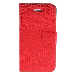 Lizardstripe PU Full Body Case with Card Slot and Stand for iPhone 4/4S (Assorted Colors) , Gold