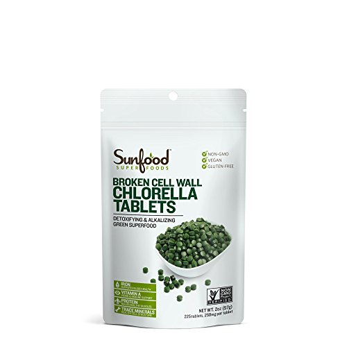 Sunfood Superfoods Chlorella Tablets, 2 oz Bag