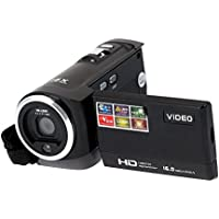 TOOGOO(R) HDV-107 Digital Video Camcorder Camera HD 720P 16MP DVR 2.7 TFT LCD Screen 16x ZOOM Black