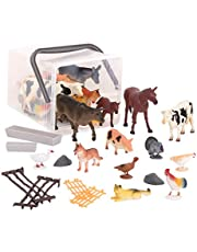 Terra by Battat – Country World – Realistic Plastic Cows Toys & Farm Animal Toys for Kids 3+ (60 Pc)