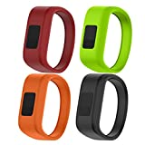 NotoCity for Garmin Vivofit JR Bands Soft Silicone Replacement Watch Bands for Garmin Vivofit JR,4 Colors Pack Small