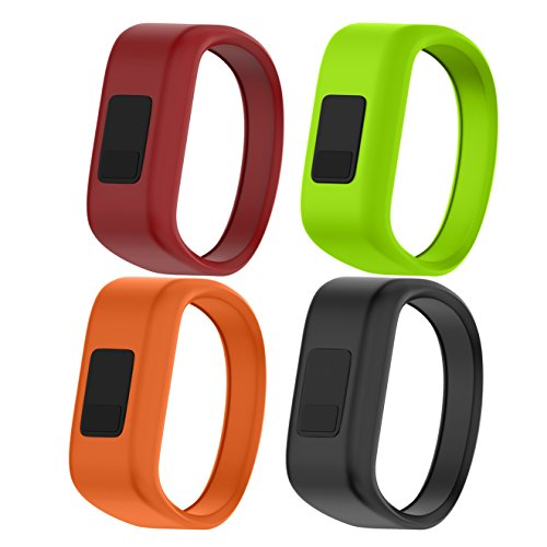 NotoCity for Garmin Vivofit JR Bands Soft Silicone Replacement Watch Bands for Garmin Vivofit JR,4 Colors Pack Small by NotoCity