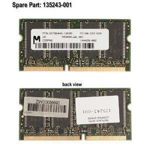 Compaq Genuine 64MB 100Mhz SODIMM Memory Module Armada 110 M700 M300 E500 E700 V300 Presario 300 EVO N400c N410c N110 Prosignia 170 190 - Refurbished - 400312-B21