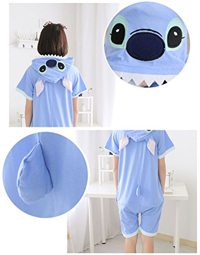 Yimidear Unisex Stitch Costume Summer Cute Cartoon Cotton Pajamas Animal Onesie (S) by Yimidear (Image #2)