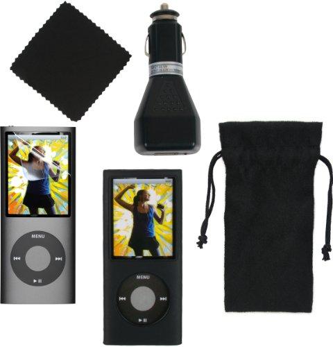 - CTA Digtal 5-in-One Starter Kit for iPod nano 4G (Black)
