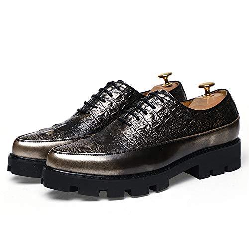 Scarpe EU Dimensione Oxford Uomo Pelle Gold Texture Casual Business casual Xiaojuan 43 Soft shoes Color Scarpe da di uomo Gold paPgBqU