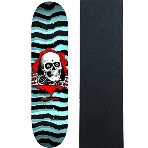 (Powell-Peralta Skateboard Deck Ripper Pastel Blue 8.5