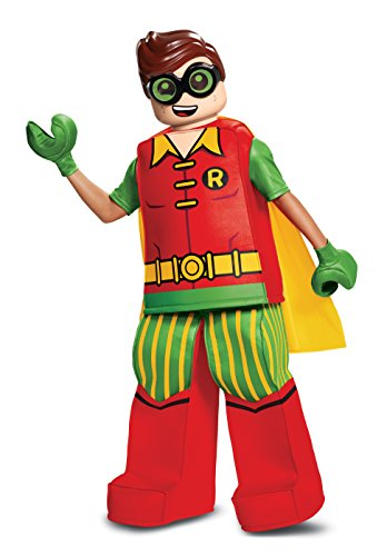 Disguise Robin Prestige Child Costume, Red, Medium/(7-8)