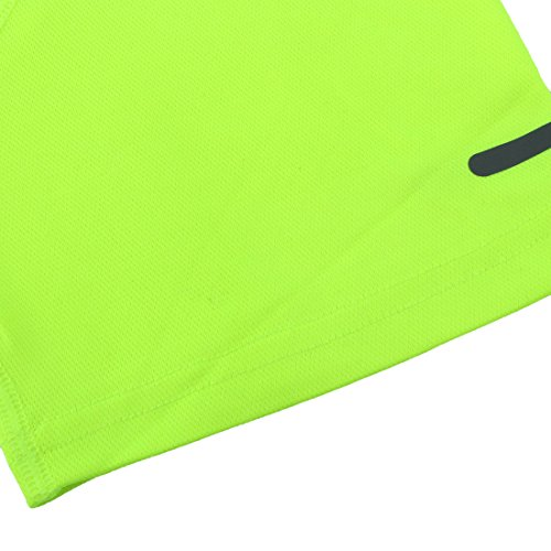 map con Redondo sourcing Ropa verde Reflectante De Camiseta Camiseta Baloncesto Deportes Manga Corta fluorescente Cuello Fútbol dq00w1X