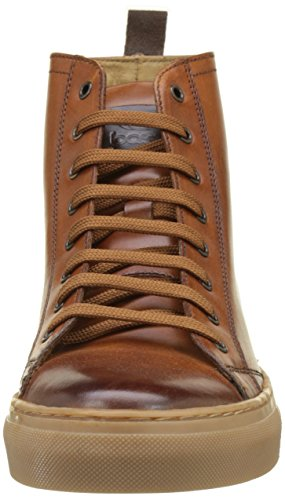 Base London Russell, Sneaker a Collo Alto Uomo Beige (Tan Washed)