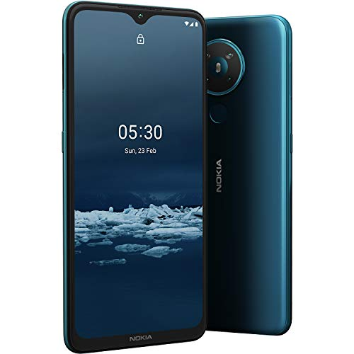 Nokia 5.3 Android One Smartphone with Quad Camera, 4 GB RAM and 64 GB Storage - Cyan Discounts Junction