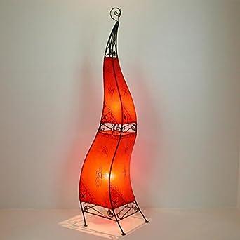 Stehleuchte Standlampe Hennalampe Leder Orientalische Lederlampe Ibis H60 Natur