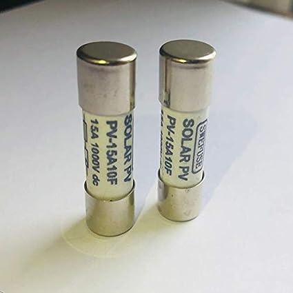 WOVELOT 10 Pi/èces 1000 VDC Fusible Solaire Pv Anti-D/éflagrant Fusible Argent 10A