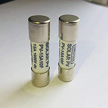 XZANTE 10 Stk 1000 VDC Schmelzsicherung Solar PV Explosionsgeschuetzte Sicherung Silber 15A