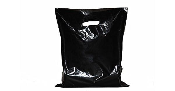 Amazon.com: 200 pequeñas bolsas de mercadería negras ...