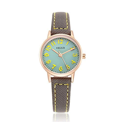 BAOSAILI Watch for Girls Easy Reading Times Teacher Leather Kids Watches (Time Teacher Leather Watch)