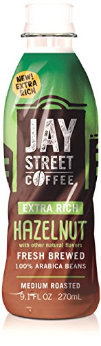 Jay Street Coffee, Extra Rich Hazelnut, 9.1 Ounce (Pack of 12)