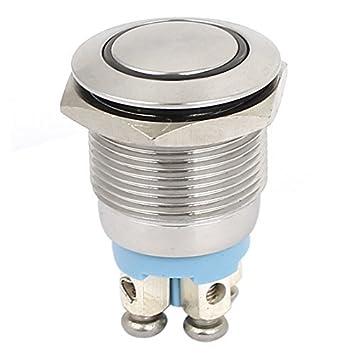 DealMux 24V 19mm rote LED-Lampe SPST Momentary Druckschalter ...